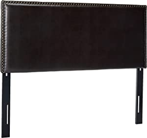 Christopher Knight Home 295099  Alonzo Brown Leather Headboard,