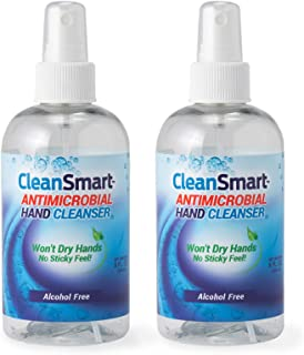 CleanSmart Antimicrobial Skin & Hand Cleanser, 8 Ounce Bottle (Pack of 2) Alcohol-Free Safe Cleanser