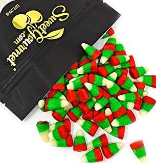 SweetGourmet Holiday Candy Corn Red, White & Green | Reindeer Corn | Bulk Christmas Candy | 1.5 pounds