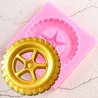 1pc Lovely Car Tyre Shape Silicone Mold for DIY Jelly Shots Desserts Cupcake Cake Topper Decoration Soap Mould Gum Paste Crystal Pudding Candy Fondant Mold Chocolate Handmade Ice Cream Ice Cube