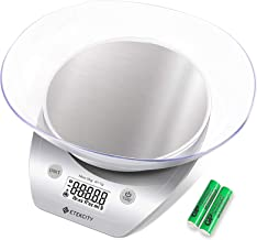 Etekcity 0.1 g Food Kitchen Gram Scale with Bowl, Accurate Measuring Tools in Ounces and Pounds for Baking, Cooking, Packa...