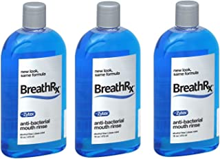 BreathRx Anti-bacterial Mouth Rinse, 3 Bottle Economy Pack (Each bottle is 16 oz)