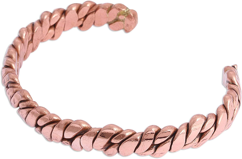 NOVICA Copper Cuff Bracelet, Brilliant Luster'