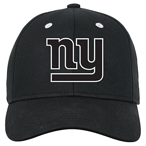487ea14f15a NFL Youth Boys Black and White Structured Adjustable Hat