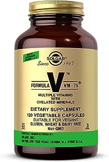 Solgar Formula VM-75, 120 Vegetable Capsules - Vitamin A, B6, B12, C, D, E - Biotin, Magnesium, Calcium, Copper, Iron, Zin...