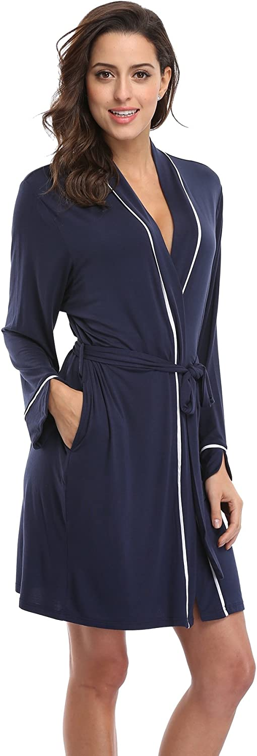 KimonoDeals Womens dept Cotton Kimono Robe Knit Wrap Bathrobe Soft Sleepwear