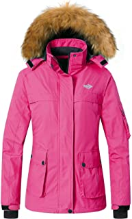Women's Warm Parka Mountain Ski Fleece Jacket Waterproof Rain Coat