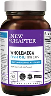New Chapter Fish Oil Supplement - Wholemega Wild Alaskan Salmon Oil With Omega-3 + Vitamin D3 + astaxanthin + Sustainably ...