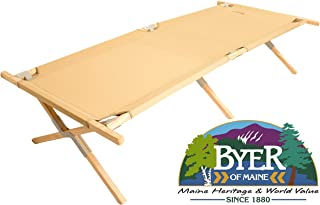 BYER OF MAINE, Maine Heritage Cot, Extra Large, Holds 375lbs, North American Hardwood Frame, 84