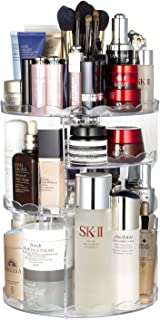 Jerrybox Makeup Organizer 360° Rotating Cosmetic Storage, Adjustable Multi-Function Spinning Vanity Organizers, Compact Size with Large Capacity, Fits Different Types of Cosmetics and Accessories