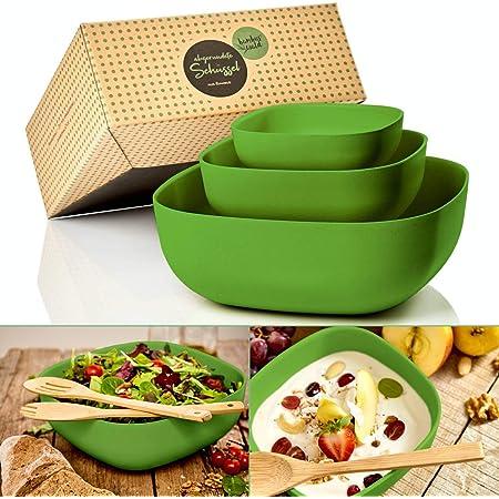 bambuswald© ökologische RührschüsselSalatschüssel Schüsselset Servierschüssel