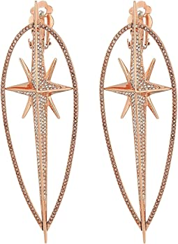 Starburst Pave Statement Earrings