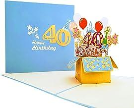 Greeting Card Birthday Happy Birthday 40 years Folding c0090