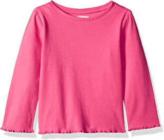 Gymboree Girls' Big Long Sleeve Casual Knit Top, pink blossom, 3T