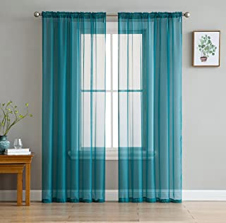 teal sheer panels