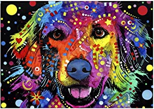 5D Cross Stitch Embroidery Mosa\u00efque Peinture Diamant Spaniel Abstract Dog Portrait Mosaic DIAMOND PAINTING by Numbers KIT