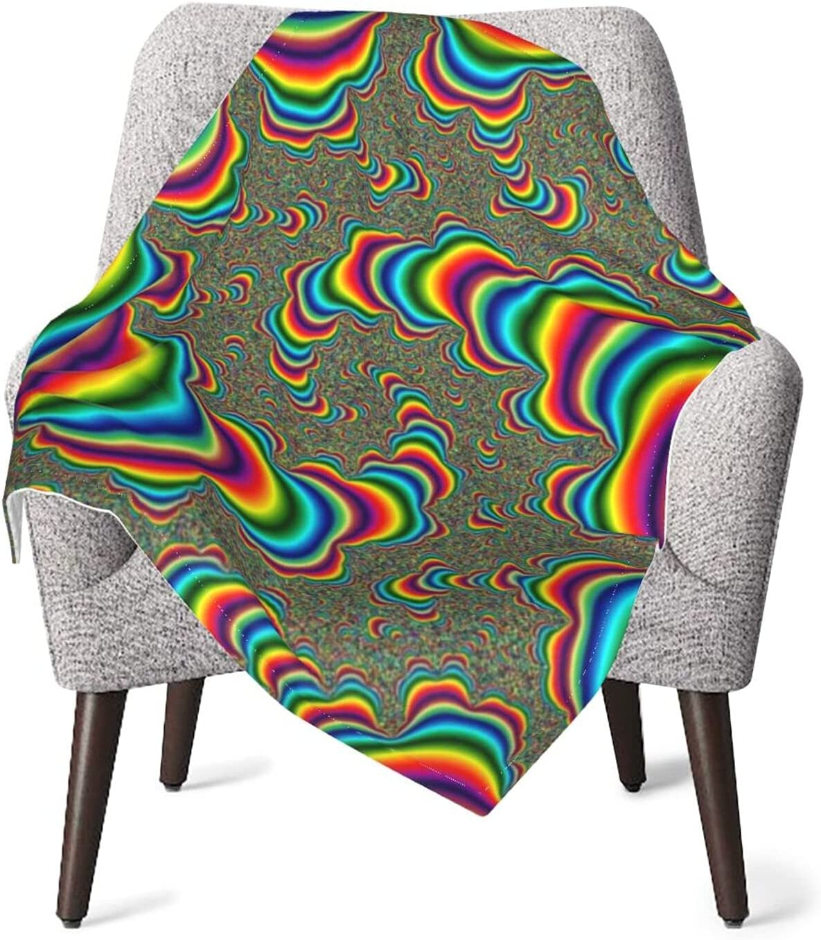 JZDACH Baby Essentials Throw latest and Receiving Psychedelic Ra Max 77% OFF Trippy