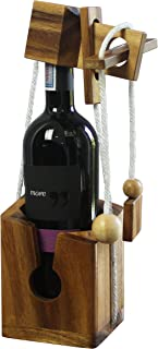 Creative Wooden Wine Bottle Puzzle, Wooden Wine Bottle Case For Wine Lover Standard Wine Bottle Size 750 ml. Adult Gift Ideas - Perfect Gift Idea