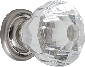 Metafranc Meubelknop Ø 30 mm - RVS-look - glashelder - hoogwaardige afwerking - mooi gevormd en decoratief - incl. montage...