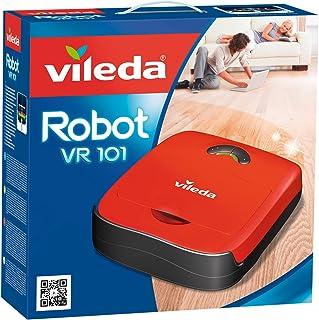 Vileda VR 101 - Robot aspirador y escoba para suelos duros y alfombras de pelo corto, 2 programas de limpieza, sensores de...