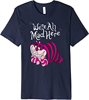 Cheshire Cat We`re all Mad Here Cat T-shirt