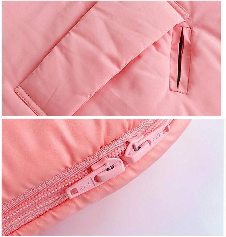 HS-LAMP Sac de Couchage Hiver Bebe, Sac de Couchage Grand Froid Double pour Enfants pour Couette Anti-Coup de Pied en Coton 4 Saisons 90 * 50cm (Color : Pink) Pink
