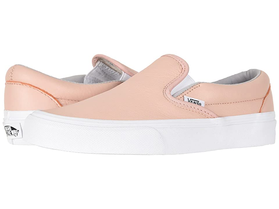 Vans Classic Slip-Ontm ((Leather) Oxford/Evening Sand) Skate Shoes