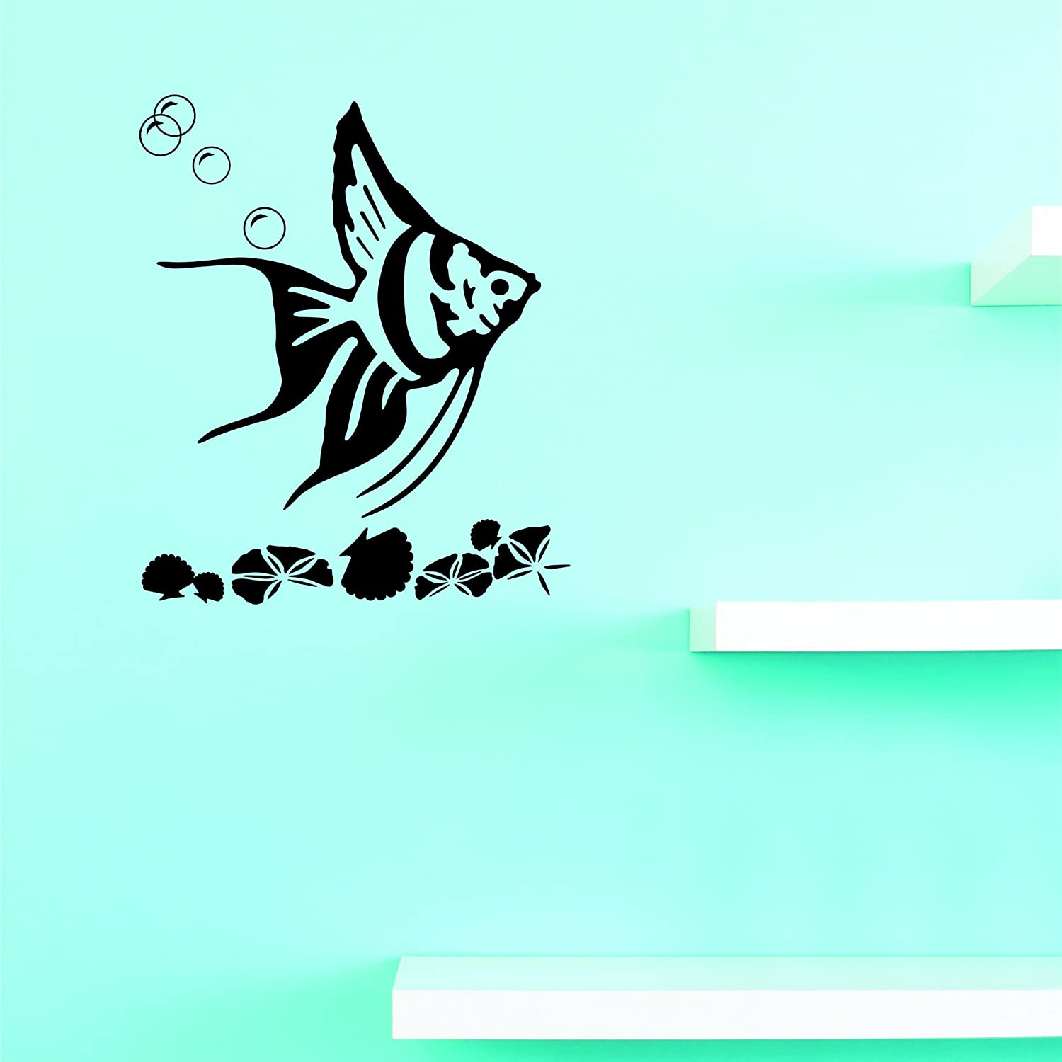 Design with Vinyl JER 2225 4 Hot Cash special Large-scale sale price Decals Rainbow New Fish Wall Ar