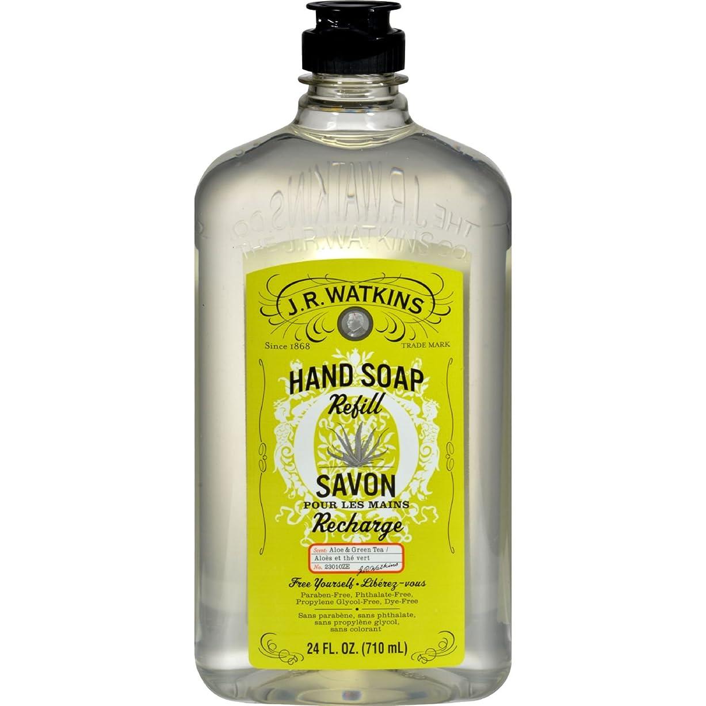 完全に矩形嫉妬J.R. Watkins Liquid Hand Soap - Refill - Aloe and Green Tea - 24 fl oz