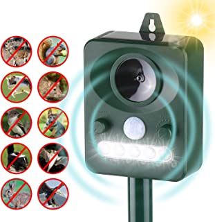 comprar comparacion Kecheer Ahuyentador de gatos ultrasonidos solar con LED,Repelente de animales ultrasónico,Repelente de gatos y perros exte...