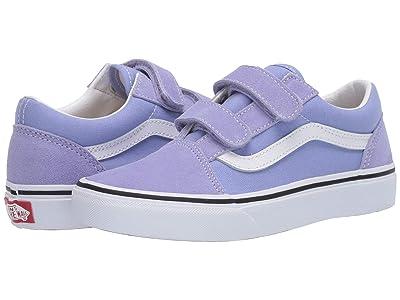 Vans Kids Old Skool V (Big Kid) (Pale Iris/True White) Girls Shoes