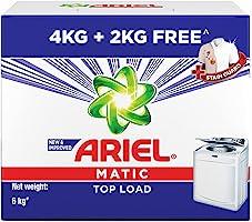 Ariel Matic Top Load Detergent Washing Powder - 4 kg with Free Detergent Powder - 2 kg