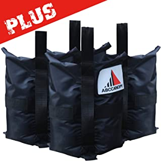 ABCCANOPY Heavy Duty Premium Instant Shelters Gazebo Weight Bags - Set of 4-50lb Capacity per Bag (Black-Plus)