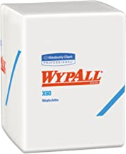 Wypall 41083 X60 Cloths, 1/4 Fold, 12 1/2 x 10, White, 70 per Pack (Case of 8 Packs)