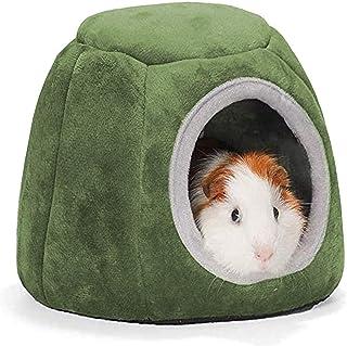 Cama de conejillo de indias para hámster, cama y esconde pequeños juguetes de animales, de algodón, nido de dormir(20 x 16...