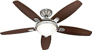 Hunter Fan 50612 Contempo - Ventilador de techo con luz níquel pulido