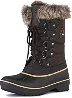 Women's Warm Faux Fur Lined Mid Calf Winter Snow Boots