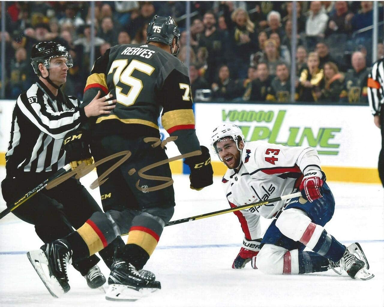 Ryan Genuine Free Shipping Ranking TOP20 Reaves Autographed 8x10 - gold Wilson