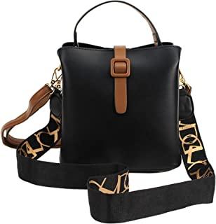 MEGAUK Damen Schlange Optik Umhängetasche Handtasche Beuteltasche Bucket Bag Schultertasche Henkeltasche mit Breit Taschen...