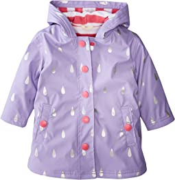 Hatley Kids - Silver Raindrops Splash Jacket (Toddler/Little Kids/Big Kids)
