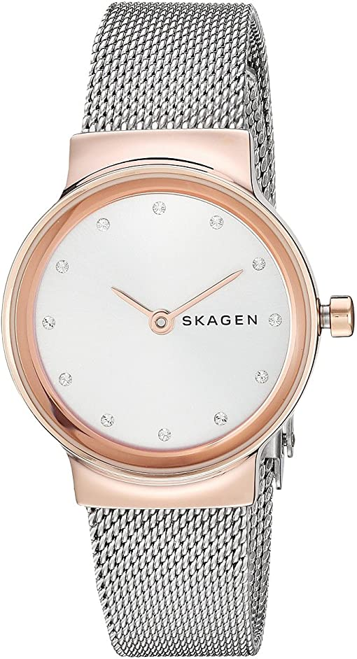 SKW2716 Rose Gold Silver Stainless Steel Mesh