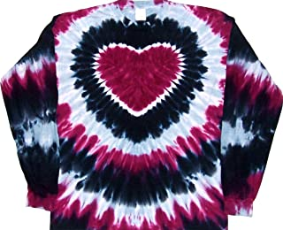 Prairie Wine Tie Dye Heart Shirt - Small to 5X
