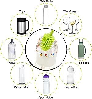 1Pc Silicone Bottle Brush Cleaner Long Handle Antibacterial Baby Bottle Brush
