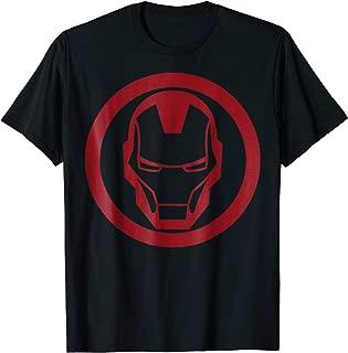 Iron Man Red Dropped Tonal Face Emblem Graphic T-Shirt
