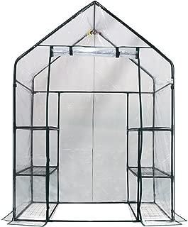 OGrow OG6834-S Deluxe Walk-in 3 Tier 6 Shelf Portable Greenhouse, Standard