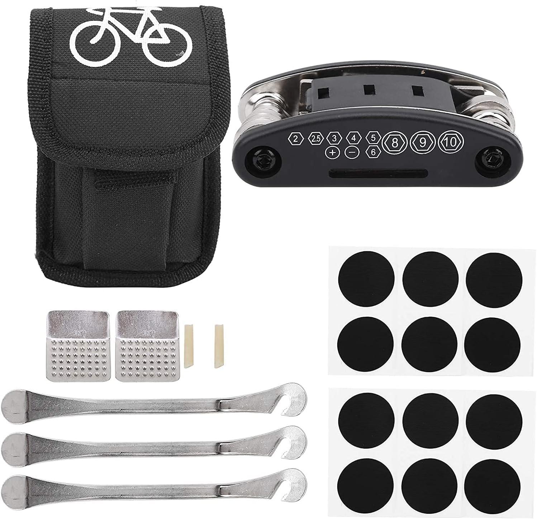 HHUPII SEAL limited Regular store product 21Pcs Bicycle Tyre Repair Kit Bike 1 Tool Puncture