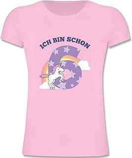 Geburtstag Kind - Ich Bin Schon 6 Einhorn - Mädchen Kinder T-Shirt