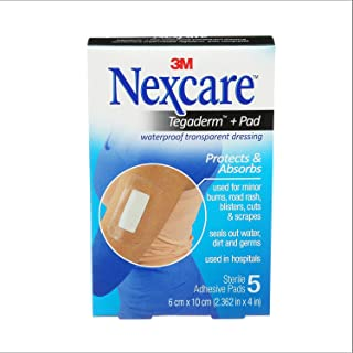 Nexcare Absolute Waterproof Premium Adhesive Pads, 2.375 x 4 inches, 5-Count Boxes (Pack of 4)