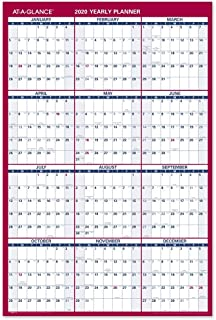 AT-A-GLANCE 2020 Yearly Paper Wall Calendar, 24