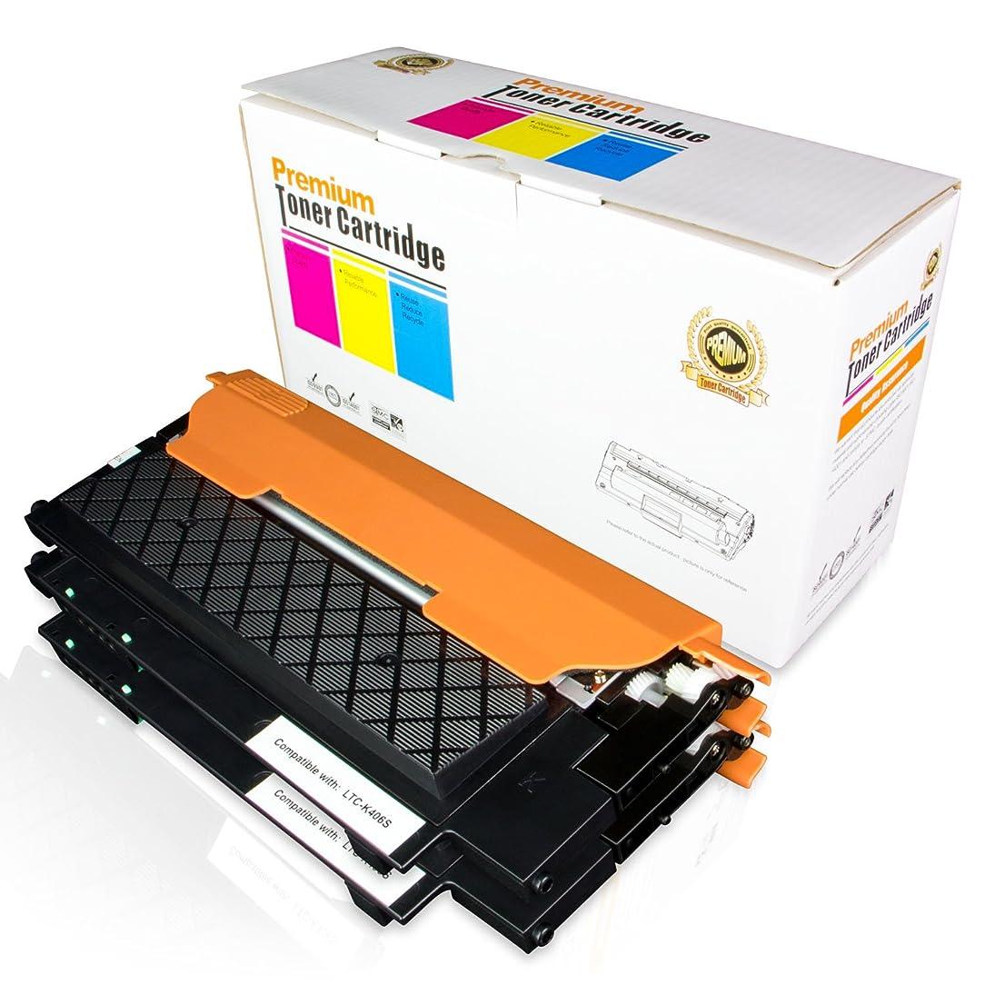 2PK of ALLINKTONER Samsung Compatible Samsung CLT-K406S Black Toner Cartridge for Samsung CLP-365 CLP-365W CLX-3305FN CLX-3305FW CLX-3305W Laser Printers
